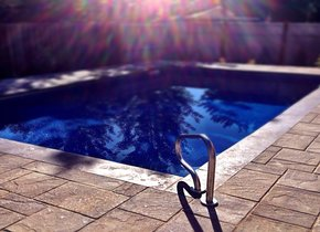 Bring the beach home with a custom pool to cool off in.