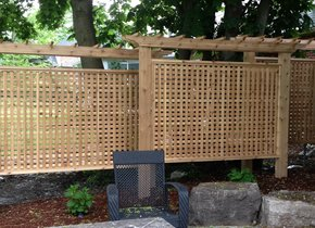 Increase your privacy with a gorgeous wood privacy screen.