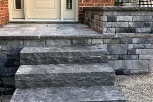 Create a custom porch with natural stone accents.